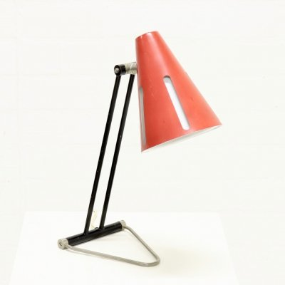 Rare 'Sun Series' Desk Lamp by H. Busquet for Hala Zeist, 1950s