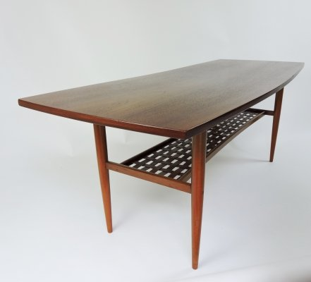 Swedish Coffee Table in Teak by Albert Tibro, 1960s