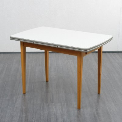 Vintage Midcentury Extendable Kitchen Dining Table with Formica top