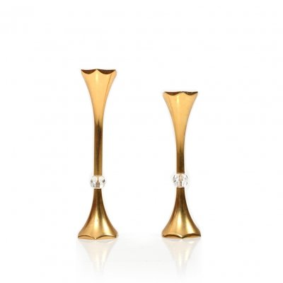 Pair of 24 C. gilded Candlesticks by Hugo Asmussen, Denmark