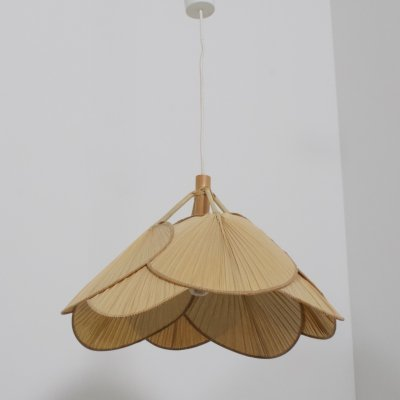 Uchiwa hanging lamp by Ingo Maurer for Design M, 1970s