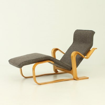 Reclining Chaise Longue by Marcel Breuer for Gavina