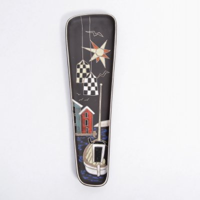 Norwegian Mid-Century pottery wall plate by Arnold Wiigs Frabrikker