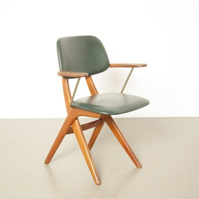 Scissor Dining room chair by Louis van Teeffelen for Webe