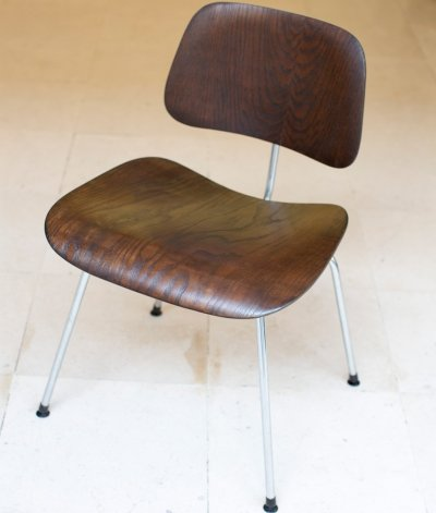 Eames DCM (Dinner Chair Metal) made by Evans for Herman Miller