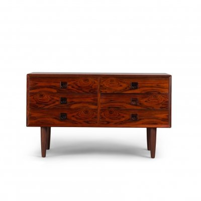 Rosewood chest of drawers by E. Brouer for Brouer Møbelfabrik, 1960s