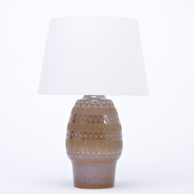 Hand made Danish stoneware lamp by Soholm Stentoj