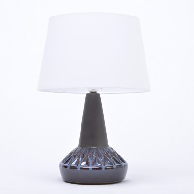 Vintage model 1058 stoneware table lamp by Soholm