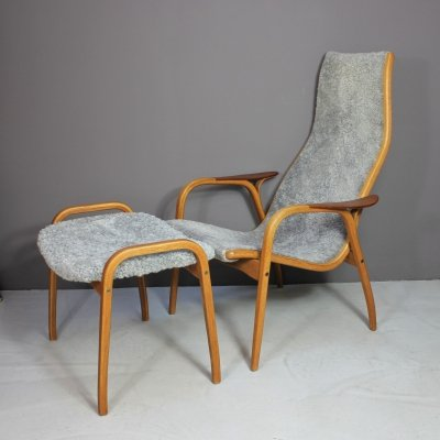 Lamino Chair & Ottoman by Yngve Ekström, 1960s