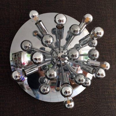 Space Age Sputnik Ceiling or Wall Sconce by Boulanger, 1960s