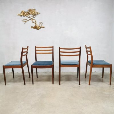 Set of 4 Vintage design dining chairs by Victor Wilkens for G plan