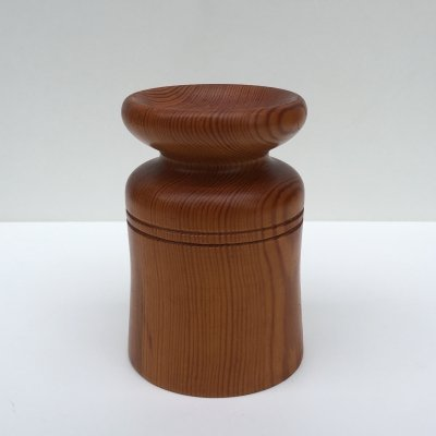 Mid-Century Swedish Pine Candle Holder by Erik Höglund for Kopparfly