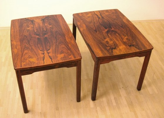 Lacquered rosewood rectangular coffee tables by Alberts Tibro, Sweden 1970s