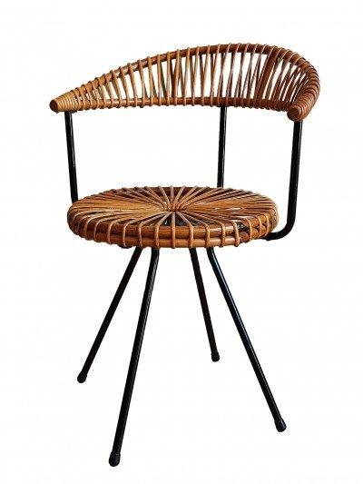 Rattan chair by Dirk van Sliedregt for Rohe, 1950s