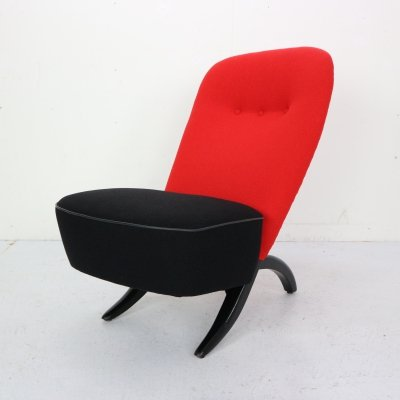 Theo Ruth 'Congo' Lounge Chair for Artifort, Dutch Design 1950s