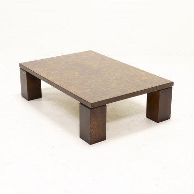 Brutalist Wenge Coffee Table by Rolf Middelboe & Gorm Lindum, 1970s