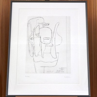 Le Corbusier etching 'Ozon', 1965