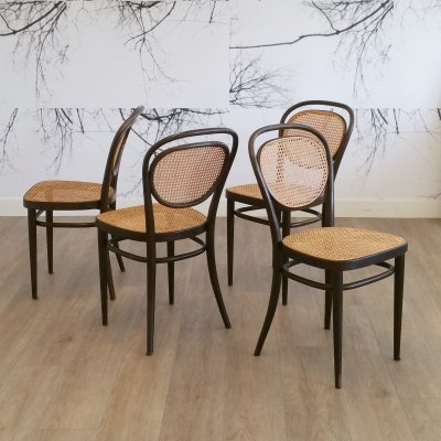 Set of 4 No. 215 Chairs by Thonet, 1976