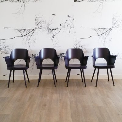 Set of 4 (Painted) No. 1515 Chairs by Oswald Haerdtl for Thonet, 1950s
