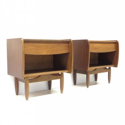 Set of two vintage night stands by Louis van Teeffelen for Wébé