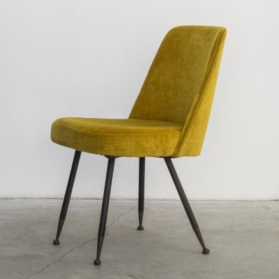 Velvet Desk Chair by Gastone Rinaldi for Rima, 1950s