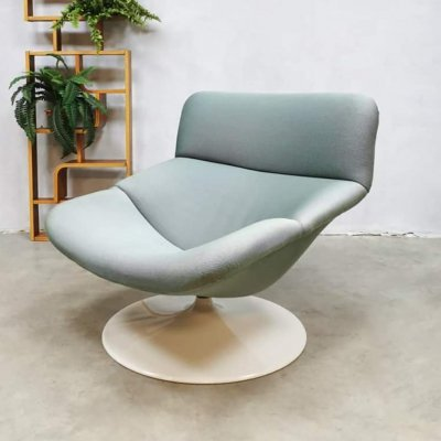 Vintage Dutch design F518 swivel chair by Geoffrey Harcourt for Artifort, 1970s