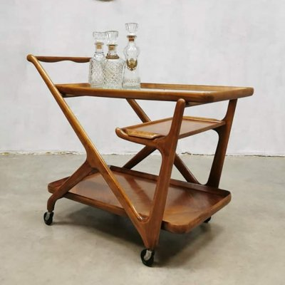 Midcentury design serving trolley by Cesare Lacca for Cassina