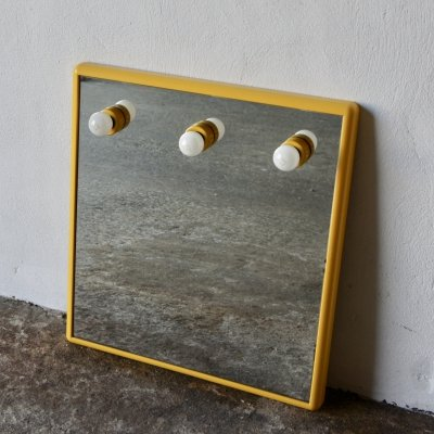 Italian Wall Mirror Lamp by Gedy, 1970s