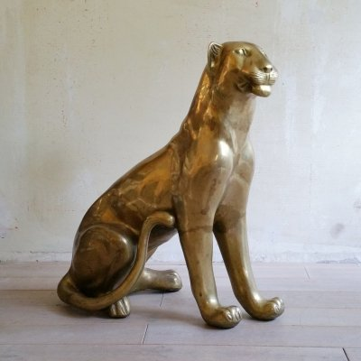 Life Size Brass Leopard / Panther, 1970s