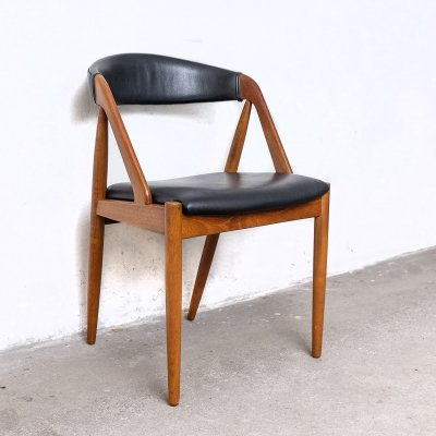 Teak & Skai Chair by Kai Kristiansen for Schou Andersen, 1960s