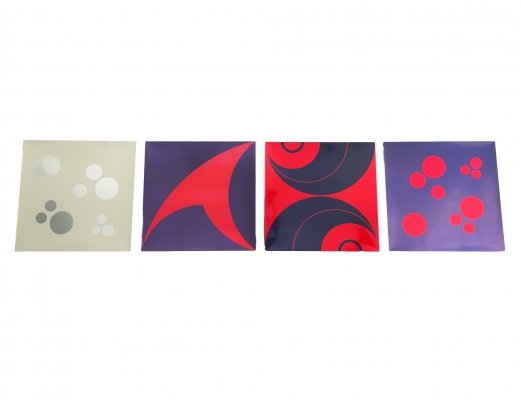 Set of 4 Italian Colorful Oxy-G Murex Wall Panels