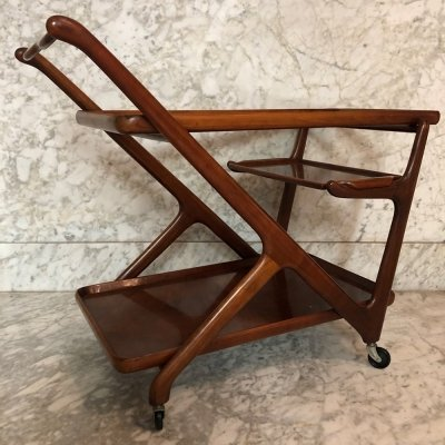 Mid-century serving trolley by Cesare Lacca for Cassina