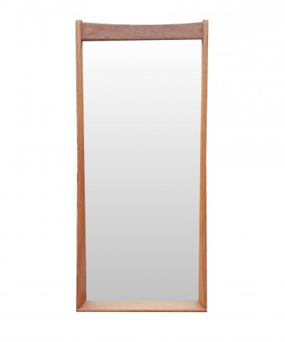 Teak mid century wall mirror by Musterring, Germany 1960s