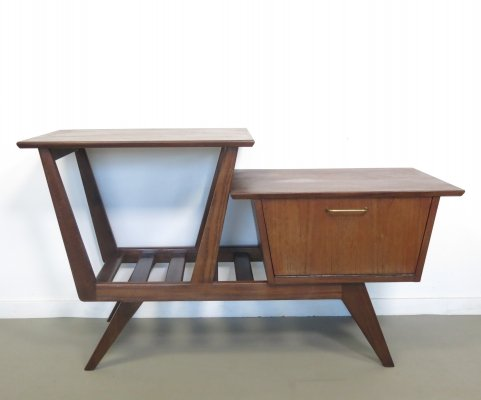 Teak table with a small chest, 1960s