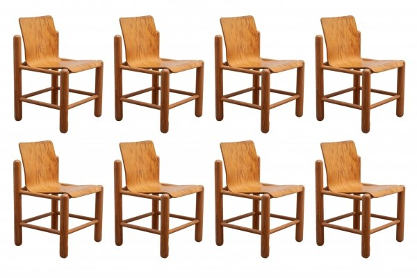 Handmade bentwood dining chairs by Knud Friis & Elmar Moltke Nielsen for Getama, 1970s