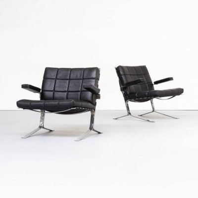 Pair of Olivier Mourgue 'joker' chairs for Airborne, 1950s