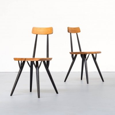 Pair of Ilmari Tapiovaara 'Pirkka' dining chairs for Laukaan Puu, 1960s
