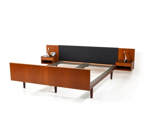 Danish Teak Double Bed by Hans J. Wegner for Getama, 1950s