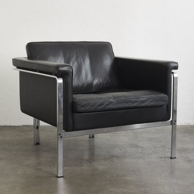 Leather easy chair by Horst Brüning for Alfred Kill
