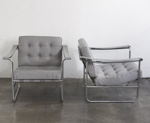 Pair of HE 113 lounge by Hans Eichenberger for De Sede