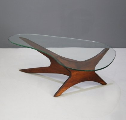 MidCentury Coffee Table by Adrian Pearsall for Craft Associates in walnut, 1960s