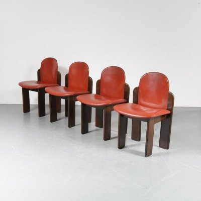Set of 4 Dining chairs by Silvio Coppola for Montina, Italy 1970
