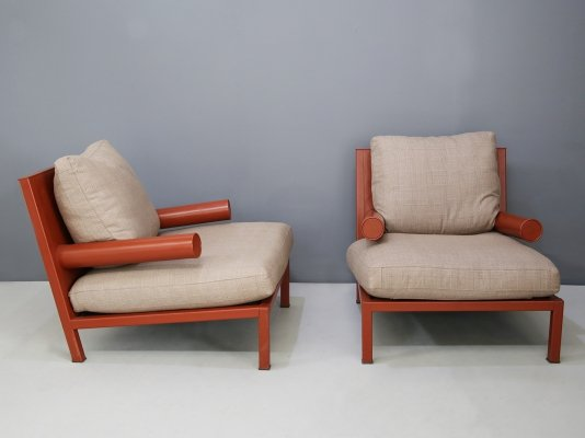 Pair of 'Baisity' armchairs by Antonio Citterio for B&B Italia, 1980s