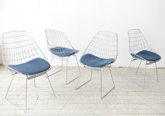 Set of 4 SM05 dining chairs by Cees Braakman & A. Dekker for Pastoe, 1950s