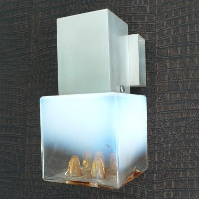 Murano Glass Wall Lamp by Mazzega, 1970s