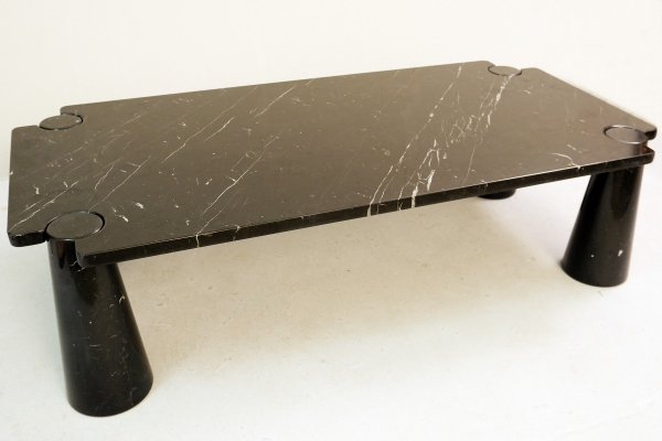 Black 'Eros' Marquina Marble Coffee Table by Angelo Mangiarotti