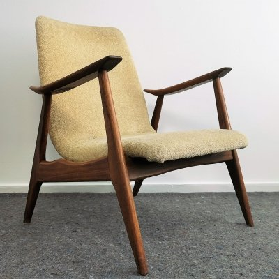 Low Back Arm Chair by Louis van Teeffelen for Webe, 1950's