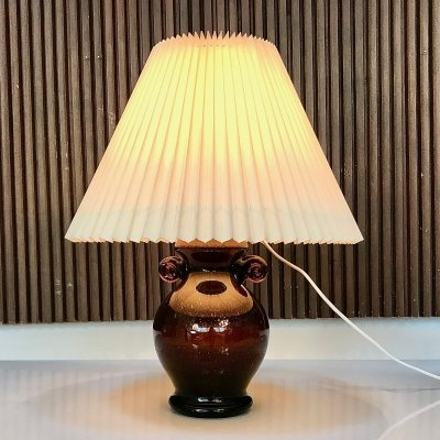 Italian Amphora-Shaped Colored Glass Table Lamp, 1950s