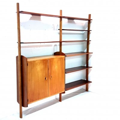 Very rare wall unit by William Watting for ScanFlex, Denmark 1950s