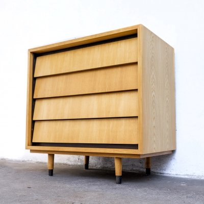 Elmwood chest of drawers by Erich Stratmann, 1950s